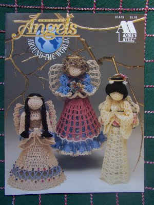New Annie's Attic Crochet Patterns Angels Around The World 87A79