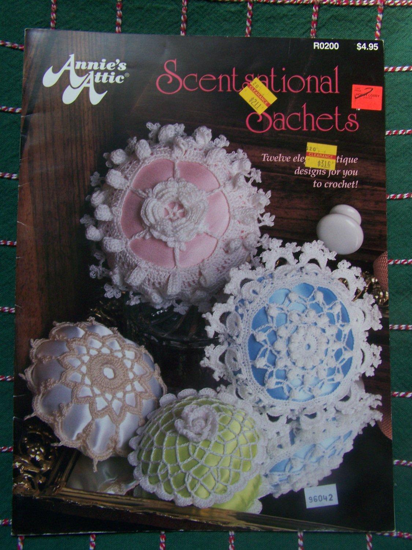 Free USA S&H Annie's Attic Thread Crochet Patterns Lacy Sachets Baskets