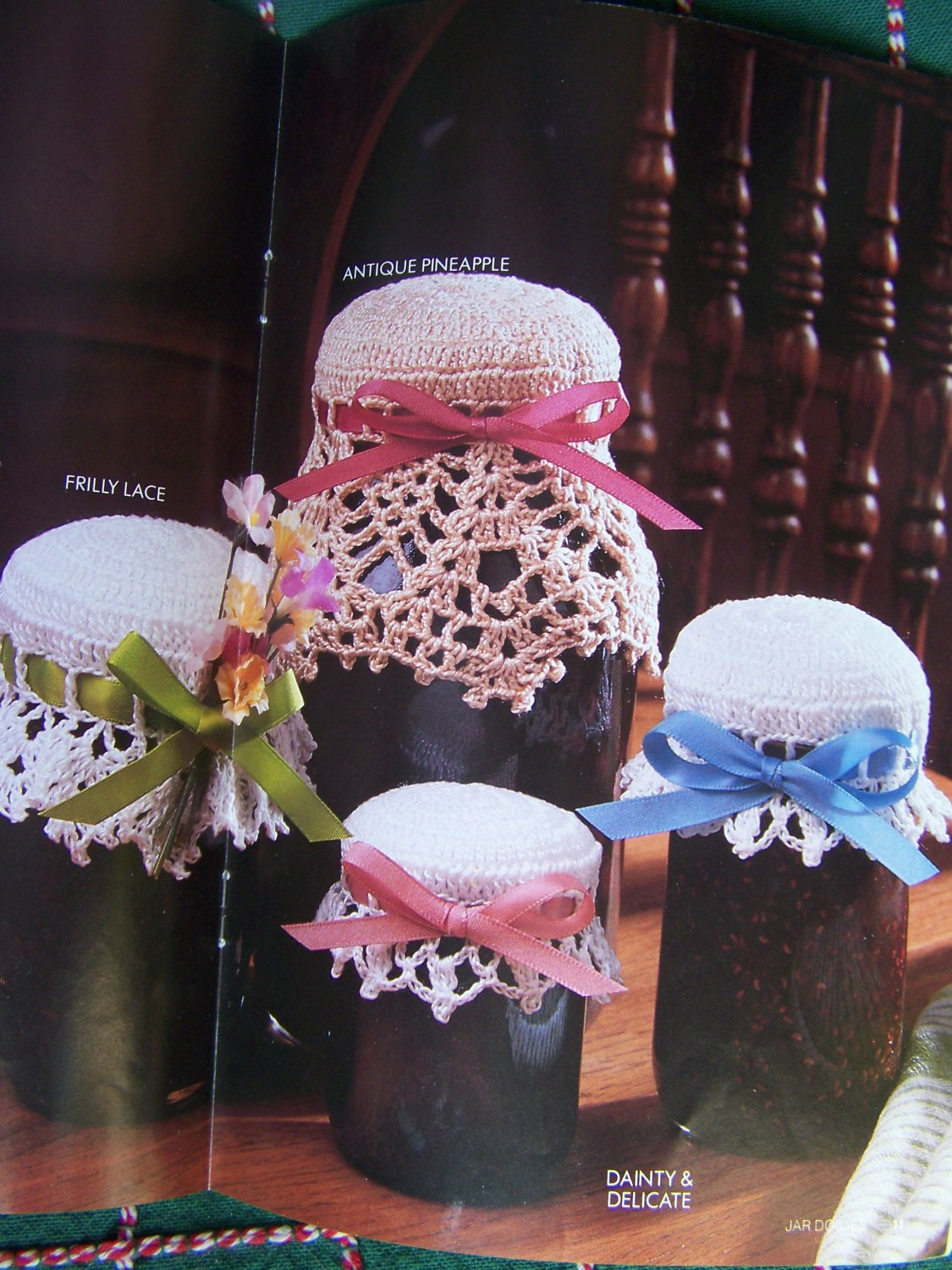 1980s Annies Crochet Patterns Jar Doilies Cozies Lid Covers Pint Or