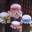 1980s Annie's Crochet Patterns Jar Doilies Cozies Lid Covers Pint or Quart Canning Jars