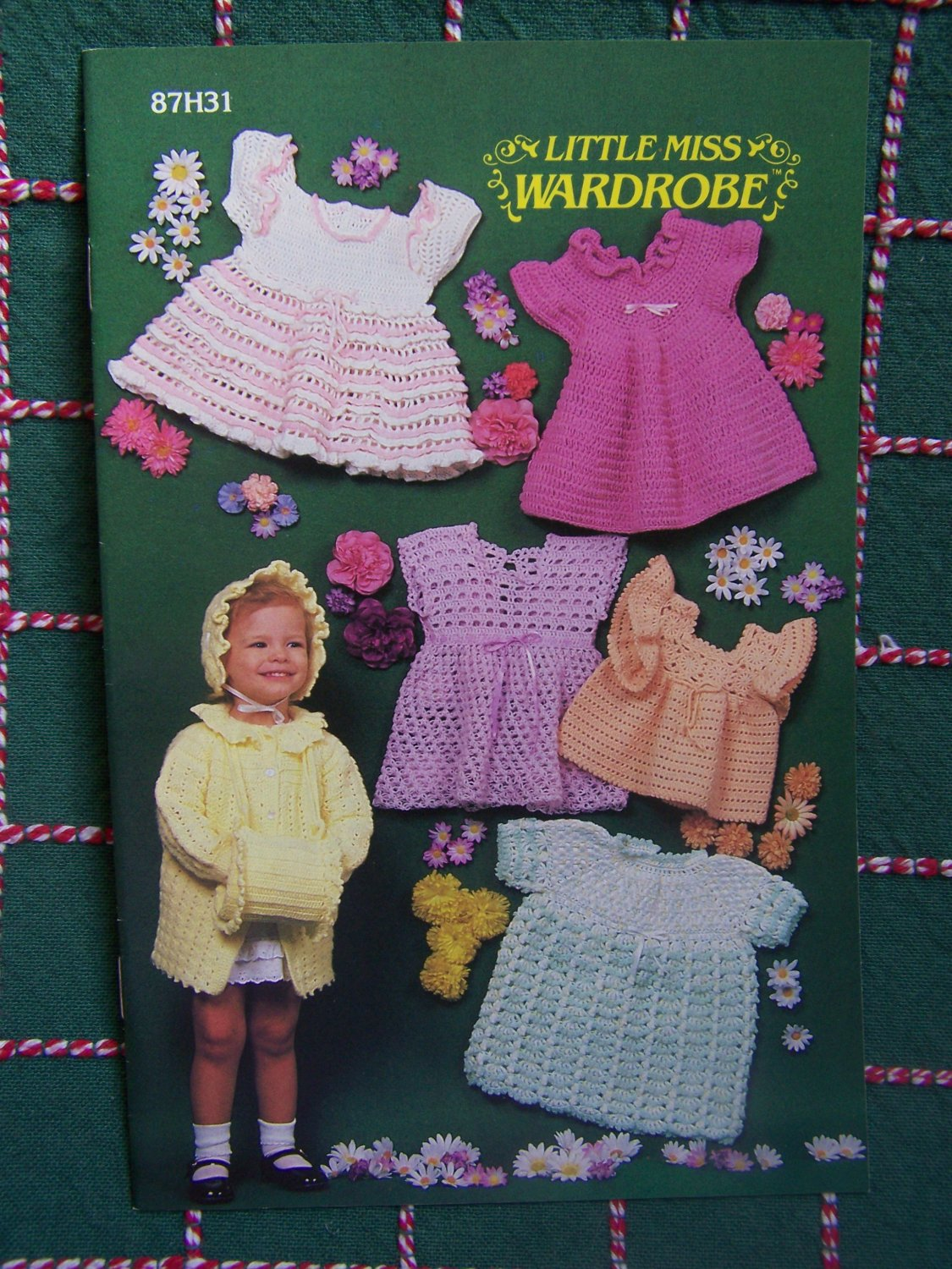 Annie's Pattern Club Book Little Miss Wardrobe Crochet 5 Dresses Jacket Bonnet Muff 87H31