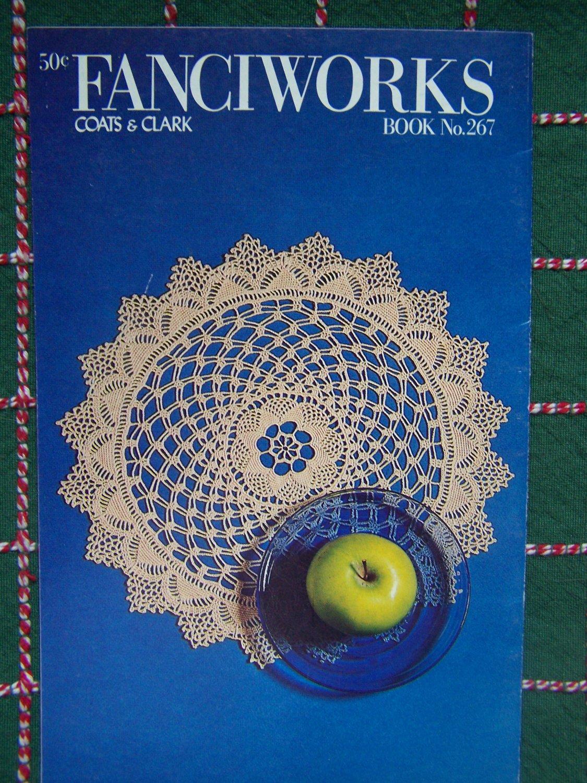 1970's Vintage Crochet Patterns Book 267 Doily Pillow Motif Table Scarf Crocus Pineapple