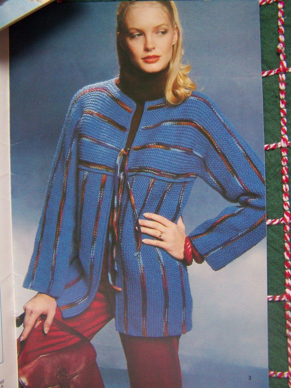 Men's & Women's Crochet & Knit Patterns Sweaters Jackets Tunic Top Blouse XL XXL XXXL
