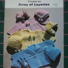 New 1980's Vintage Crochet Patterns 6 Layette Sets Baby Sweaters Booties Bonnets