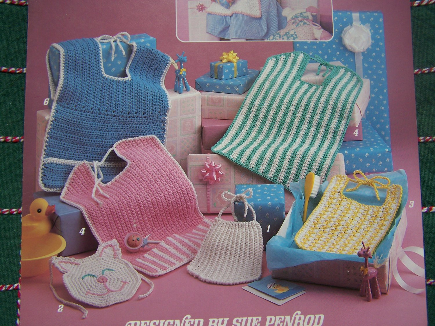 New Baby Bibs To Crochet Patterns NB 3M 6M Toddler 416