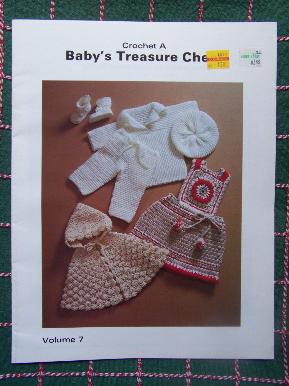 Vintage Baby Crochet Patterns Christening Gown & Suit Hoodie Cape Lacy Dress Jumper SUndress # 7
