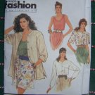 Uncut Vintage Sewing Pattern 7172 Misses Tank Top Blouse Short & Long Sleeves Over Shirt