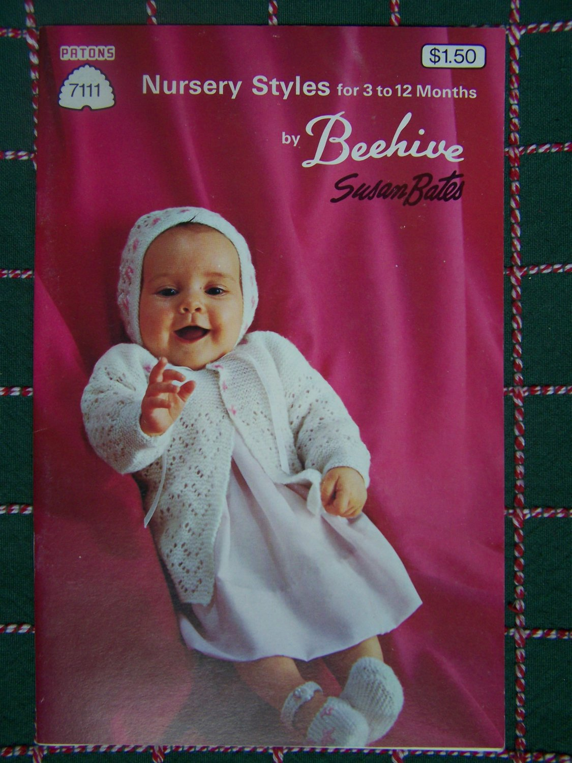 Vintage Susan Bates Nursery Layette Baby Knitting Patterns Book 7111