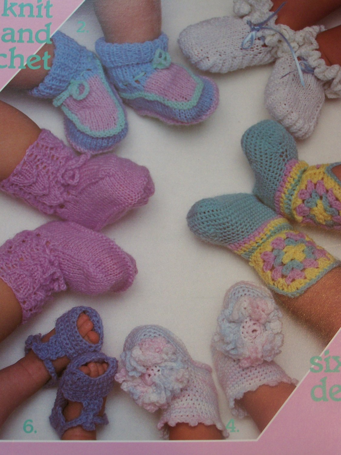 Crochet Pattern Baby Booties Orchid Sandals : Vintage Baby Booties Knitting & Crochet Patterns Shoes ...