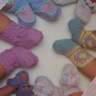 Vintage Baby Booties Knitting & Crochet Patterns Shoes Sandals Boots 377