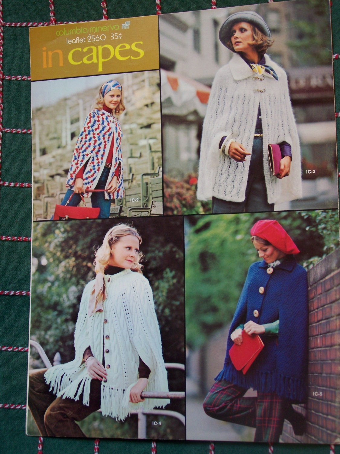 1970's Vintage Capes for Women Knitting & Crochet Patterns 2560
