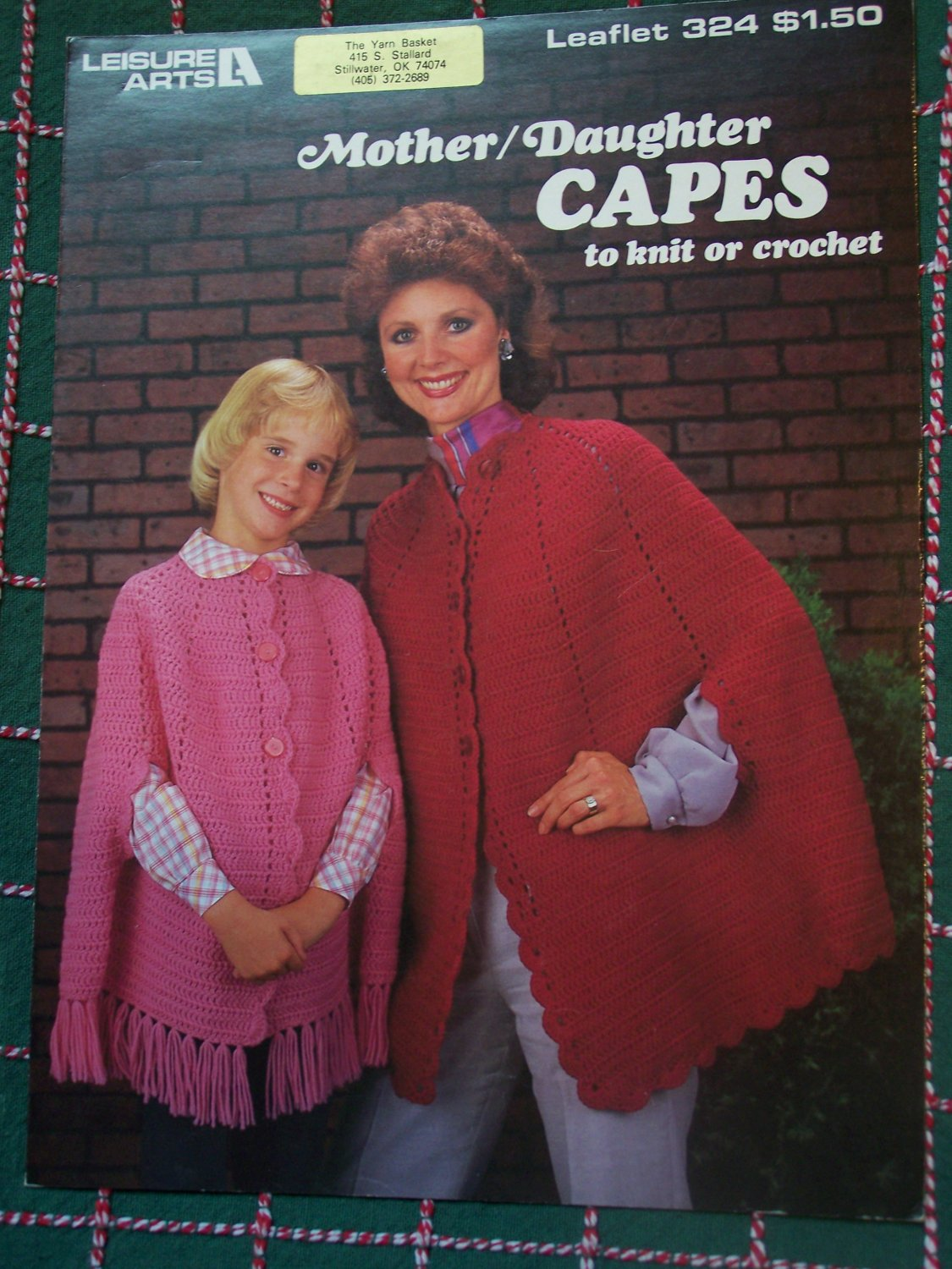 Vintage Knit & Crochet Patterns Mother Daughter Capes 324