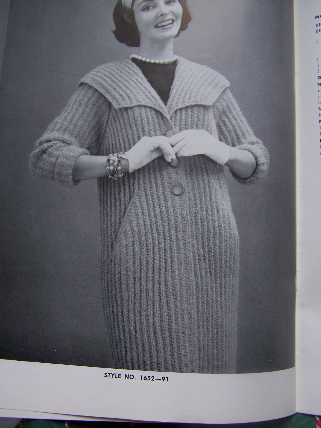 8 Womens 1960 Vintage Coat Knitting Patterns Bernat Book 91 All Lengths