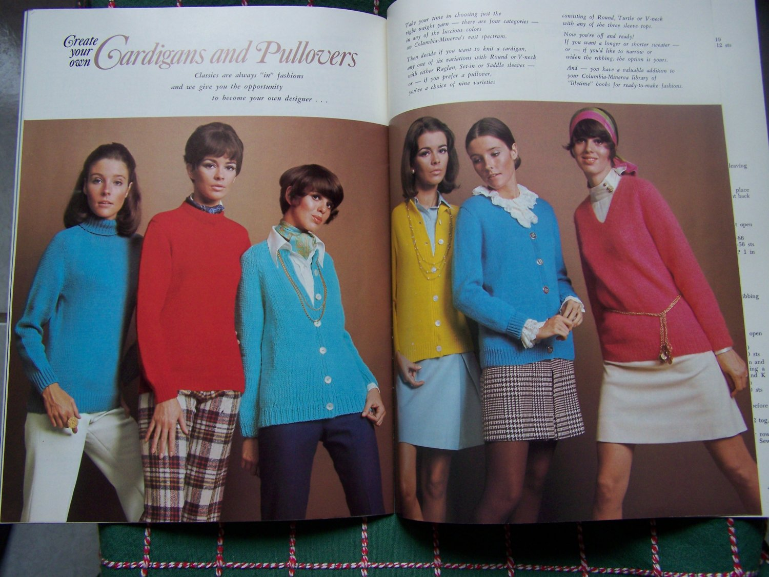 30 1960's Vintage Knitting Patterns Womens Sweaters