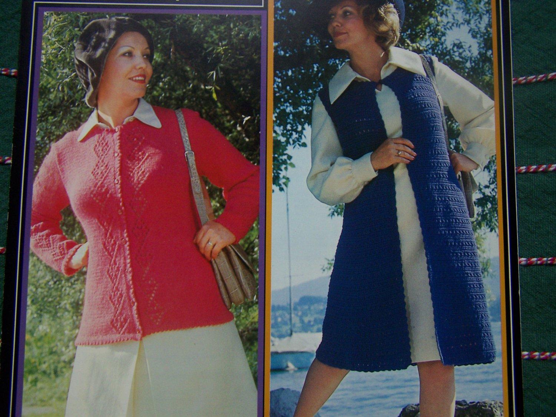 New Vintage Womens Cardigan Sweaters Brunswick Knitting & Crochet Patterns 7312