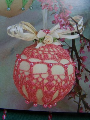 12 New Annie's Attic Thread Crochet Patterns Springtime Ornaments Satin Ball Covers 878502