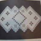 15 Vintage Hardanger Embroidery Patterns Doilies Table Runner Bun Warmer Framed