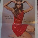 PDF File 1960's Vintage Twiggy Crocheted Lacy Mini Dress Crochet Pattern Misses 6 8 10 12 14