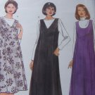 Uncut Womens Plus Size Sewing Pattern 6352 Flared Jumper Dress Princess Seams 22 24 26