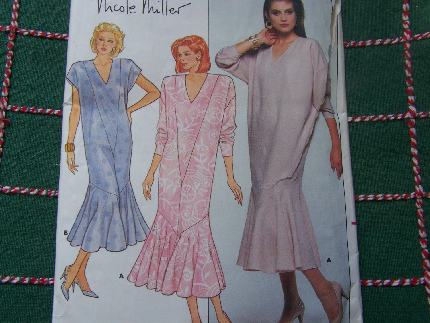 Uncut Nicole Miller Fishtail Evening Dress Vintage Sewing Pattern 4325 Misses 12 14 16