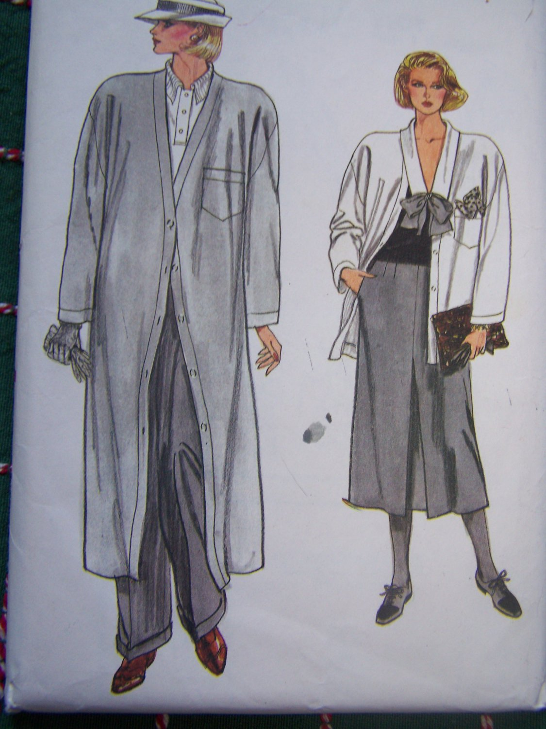 Vintage Vogue Plus Size Misses Sewing Pattern 9201 Coat Jacket Slim Skirt Cuff Pants 18 20 22
