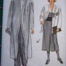 Vintage Vogue Plus Size Misses Sewing Pattern 9201 Coat Jacket Slim Skirt Cuff Pants 18 20 22