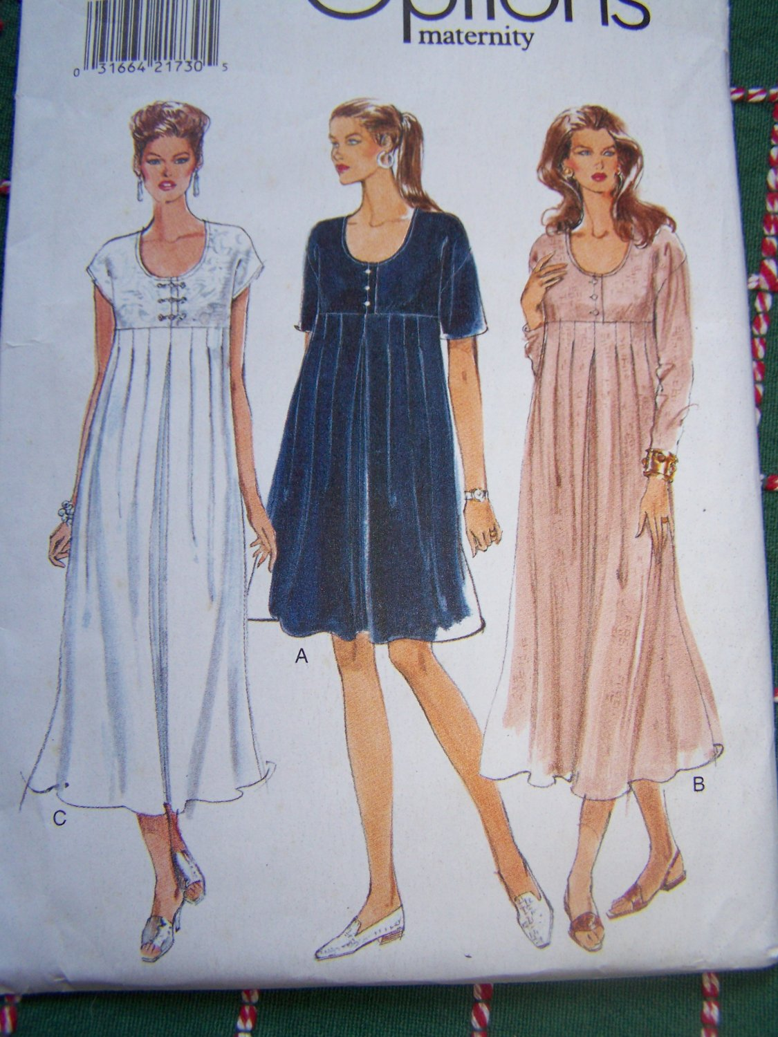 Easy Vogue Misses Maternity Dress Sewing Pattern 9265 Plus Size 18 20 22