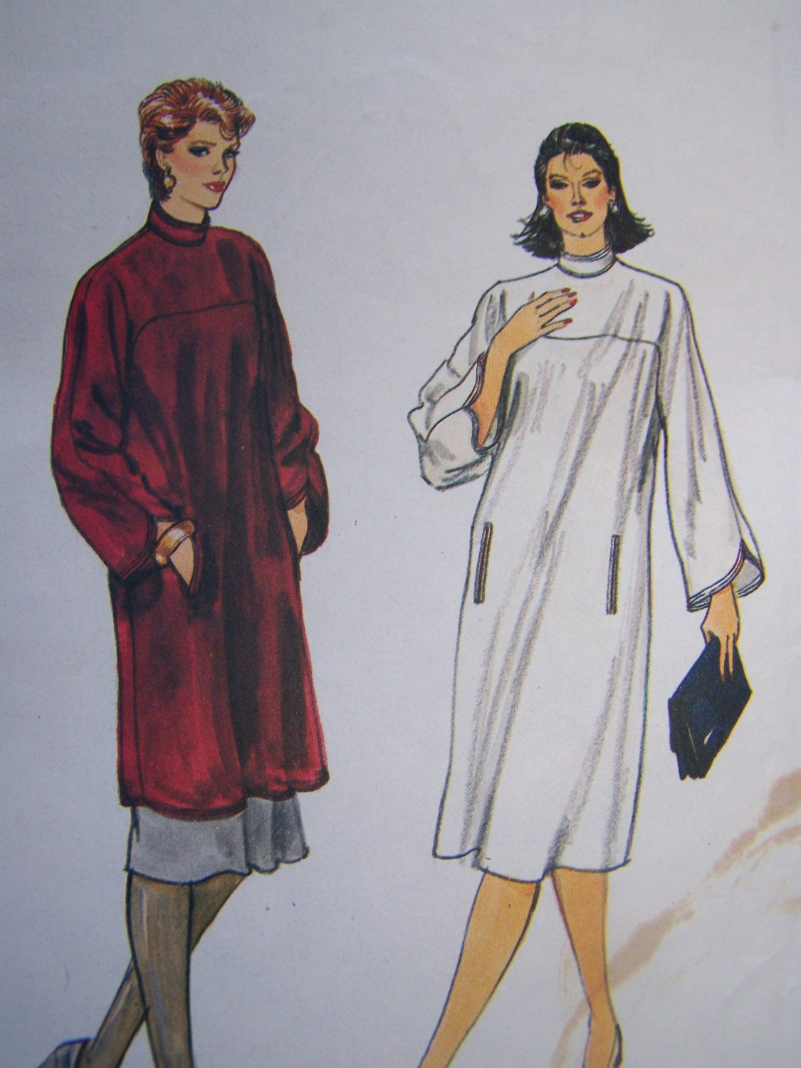 Uncut Vintage Vogue Sewing Pattern 8416 Long Tunic Top or A Line Dress & Skirt 18 20 22