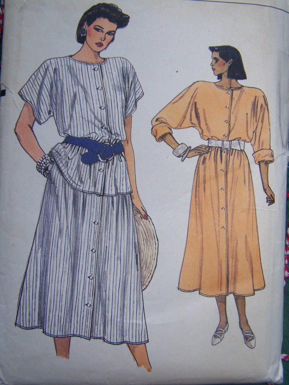 Uncut Vintage Vogue Sewing Pattern 9208 Flared Midi Dress Tunic Skirt 18 20 22