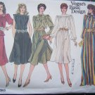 Uncut Vintage Vogue Flared  Dress Skirt Tunic Gown Sewing Pattern 2965