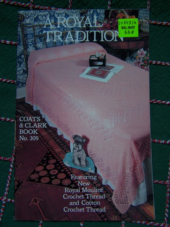Vintage Crochet Patterns 309 Bedspread Pillow Dresser Tablecloth Table Runner Scarf