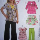 Uncut Girls 3 4 5 6 Sewing Pattern 5794 Empire Waist Peasant Tops & Pants