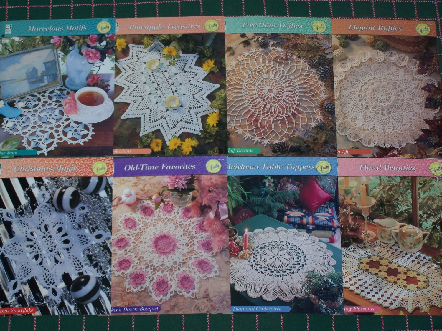 8 Crochet Doily Patterns Lot House of White Birches Binder
