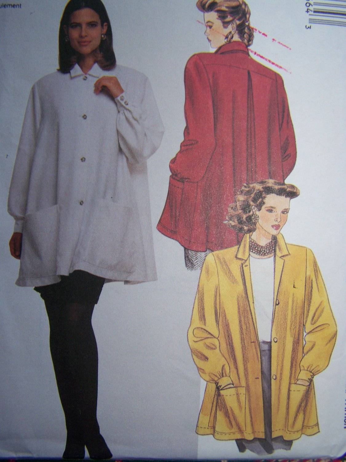 Uncut Misses Tent Blouse Sewing Pattern 4966 Jacket Size 18 20 or Large
