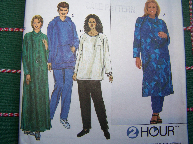 Uncut Sewing Pattern 8382 Plus Size Caftan Tunic Top Pants 26 28 30 32 Women's Full FIgure