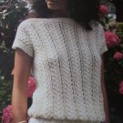 Vintage Retro Ladys Summer Lacy Top Yarn Knitting Pattern Hayfield 2160