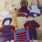 Country Crochet Patterns Primitive Goose Amish Doll Family Mini Quilt Patchwork Hanging 1050