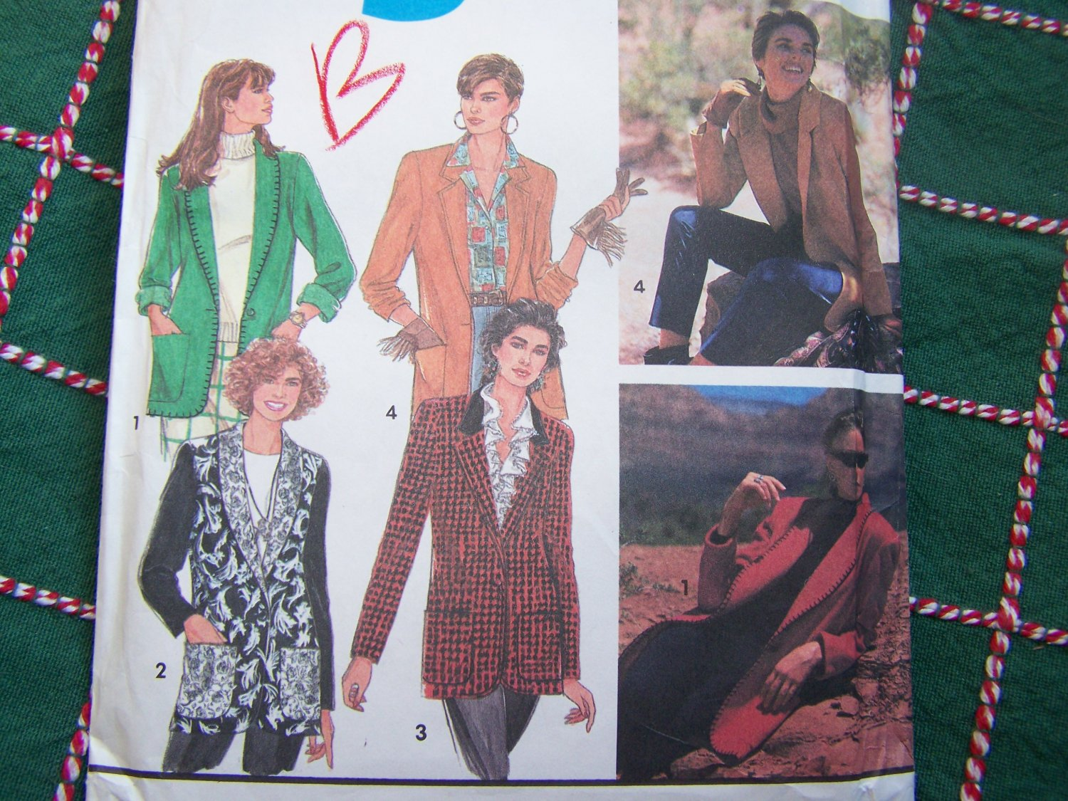 Misses 5 Hour Blazer Jacket Sewing Pattern 7522 Lined or Unlined Collar variations 10 12 14 16