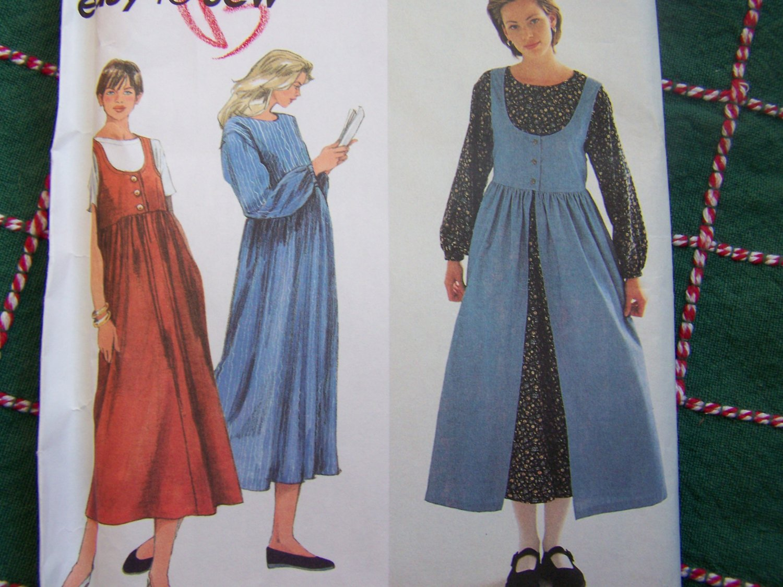 Uncut Easy Sewing Pattern 9343 Long Sleeve Dress or Jumper Dresses 12 14 16