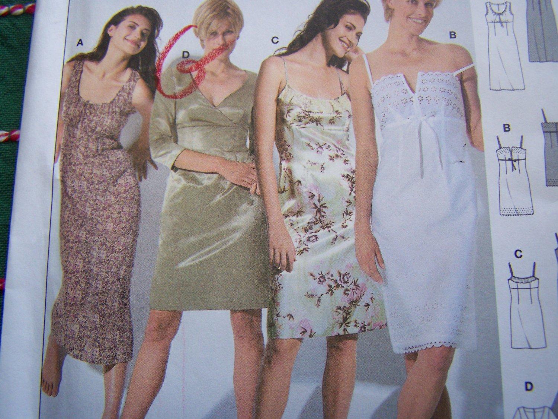 Uncut Burda Sewing Pattern 8348 Misses A Line Empire Waist Dress 8 10 12 14 16 18 20