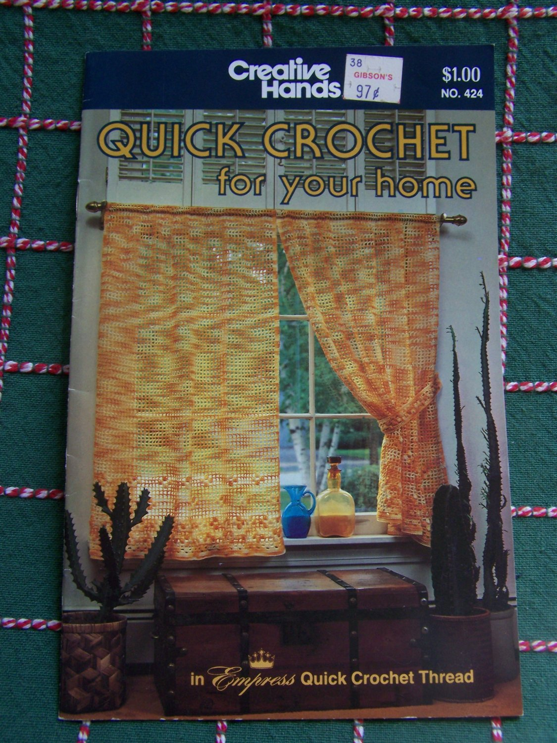 Vintage Creative Hands Crochet Home Patterns Curtains Colonial Bedspread County Fair Tablecloth 424