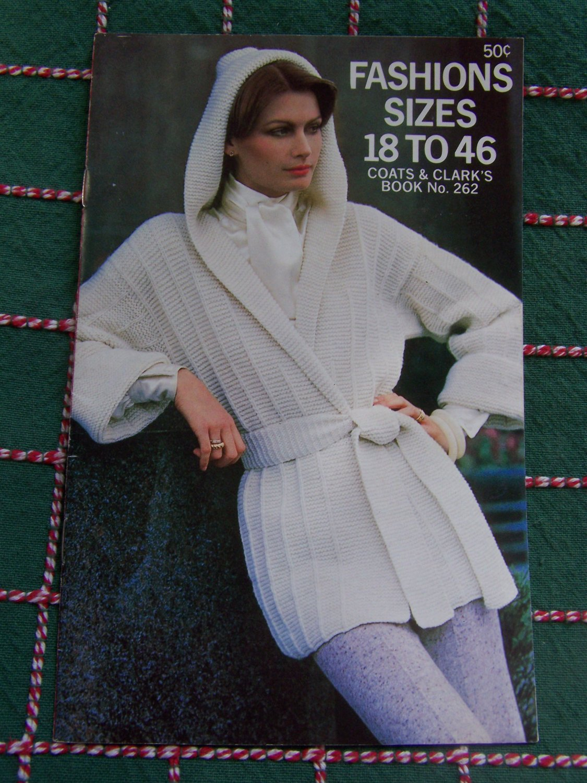 Vintage Womens Fashions Crochet & KNitting Patterns Book 262 Coats & Clark's