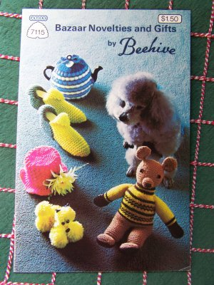 Vintage Beehive Patons Knitting & Crochet Patterns Bazaar Novelties