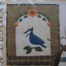 New Bluejay Bird Applique Quilting Pattern Wall Hanging 122 Katrinka Designs