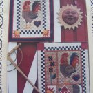 2 New Country Rooster Kitchen Quilted Wall Hangings Patterns 123