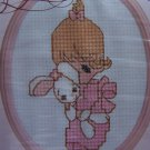 Vintage Cross Stitch Craft Kit Girls Precious Moments Jesus Loves Me 131 - 06