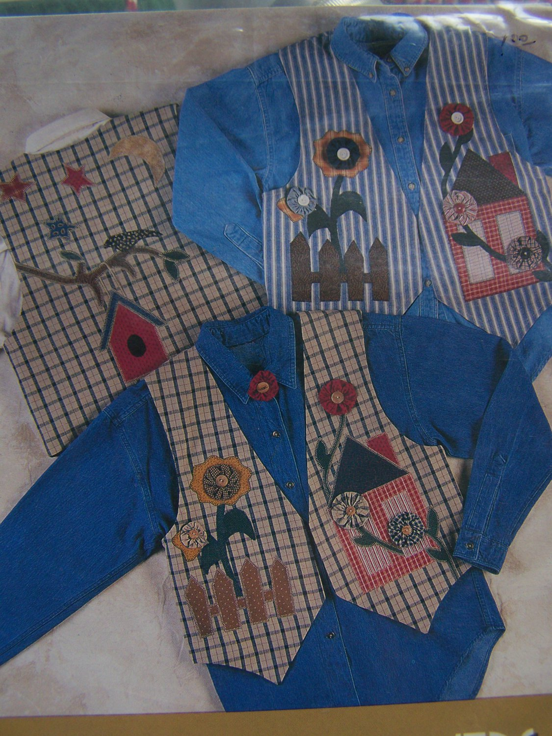 New Sewing Pattern Vest & Appliques Decorate Your own vest IJ314
