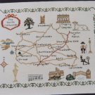 Vintage Corss Stitch Embroidery Pattern #  23 North Cotswold England Map