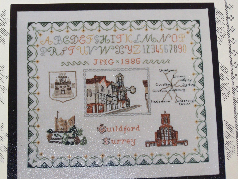 Vintage Guildford Surrey Sampler Map Cross Stitch Pattern # 27 Inglestone