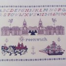 Vintage Cross Stitch Pattern Greenwich England Sampler # 28 Inglestone Greenoff